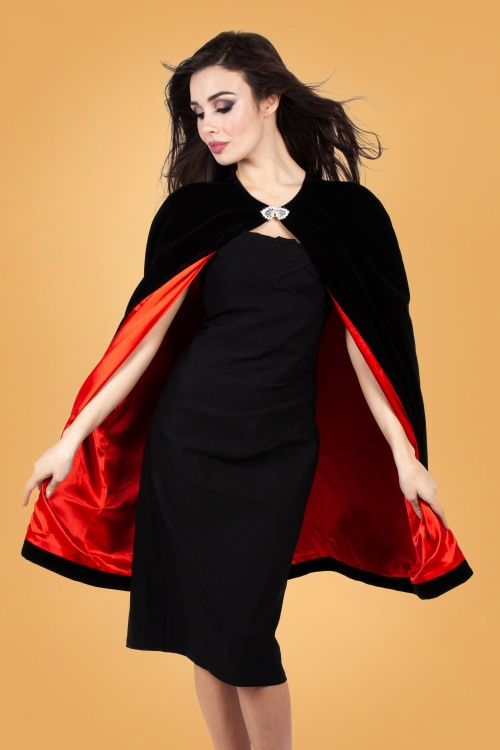 Vixen 31000 Cameron Vamp Cape in Black 20190528 023LW