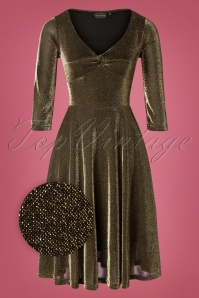 Vixen 30898 Swingdress Lulu 50s Disco Gold Glitter 10012019 003Z