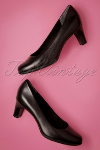 Rockport 50s Melora Leather Pumps in Black