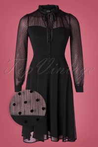 Vixen 30902 Swingdress Acid Black Ribbon Lace Polkadots 10012019 002Z