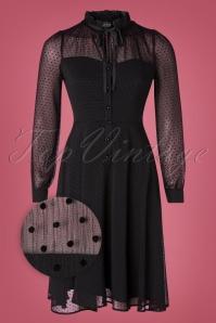 Vixen 30902 Swingdress Acid Black Ribbon Lace Polkadots 10012019 002Z
