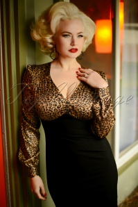 Glamour Bunny 29291 Harriet Pencil Dress in Leopard 20190408 6918W