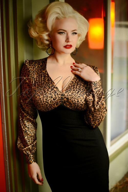 Glamour Bunny 29291 Harriet Pencil Dress in Leopard 20190408 6918W