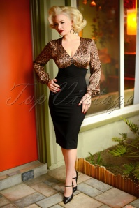 Glamour Bunny 29291 Harriet Pencil Dress in Leopard 20190408 6903 AmendW