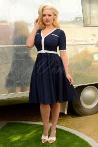 50s Demi Swing Dress in Navy