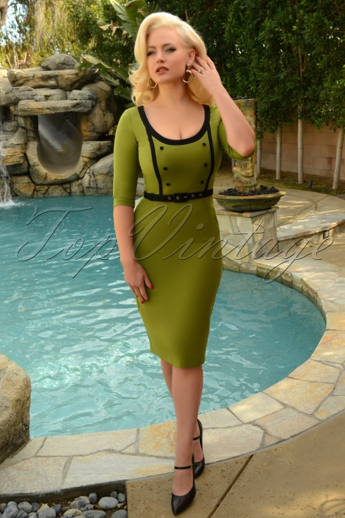 Glamour Bunny 29277 Minzy Pencil Dress in Green 20190403 7871 AmendW