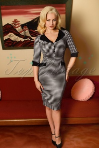 Glamour Bunny 29286 Sarai Pencil Dress in Gingham 20190328 8067W