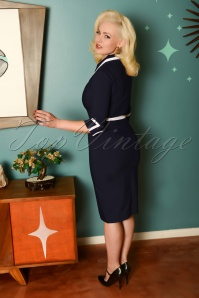 Glamour Bunny 29263 Gina Pencil Dress in Blue 20190408 8586W