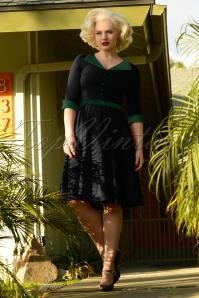 Glamour Bunny 29295 Sarai Swing Dress in Black 20190410 7291 BlackGreen7291W