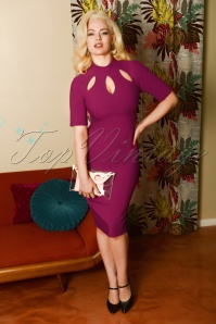 Glamour Bunny 29266 Joy Pencil Dress in Fuschia 20190328 8123W