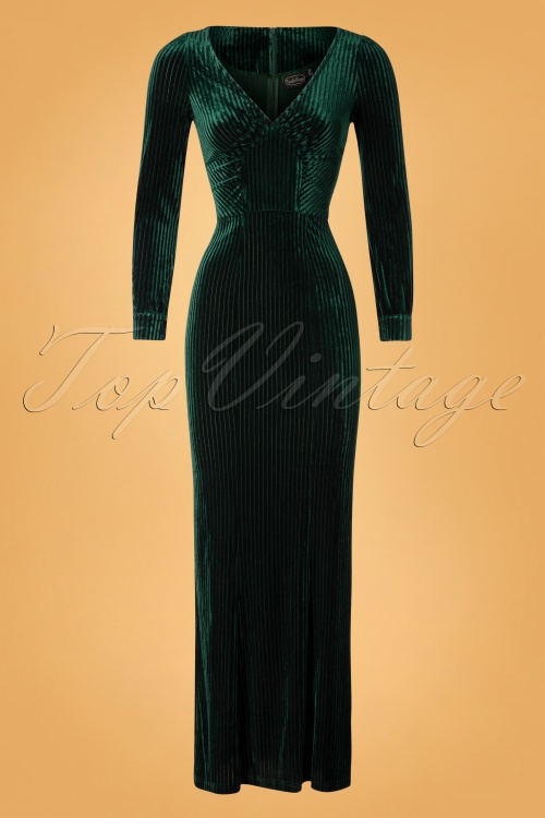 Vixen 30884 30's Edith Velvet Green20191001 005 W
