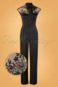Vixen 30943 Jumpsuit Bianca Black Lace Satin 10012019 004Z