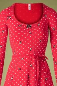 Blutsgeschwister 29761 Swingdress Happy Folks Red Polka 10022019 002V