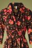 Blutsgeschwister 29760 Swingdress Crowned Heart Floral Black 10022019 001V