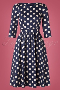 Hearts And Roses 31131 Swingdress Blue Polka 10022019 003W