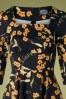 Hearts And Roses 31129 Swingdress Navy Floral Yellow 10022019 003V