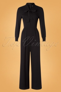 Hearts And Roses 31108 Jumpsuit Black Ribbon 10022019 002W