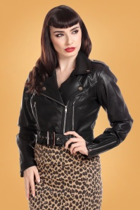 Collectif 31217 Lana PU Biker Jacket in Black 20190927 023