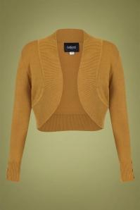 50s Jean Knitted Bolero in Mustard