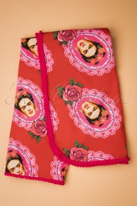 60s Frida Scarf in Red