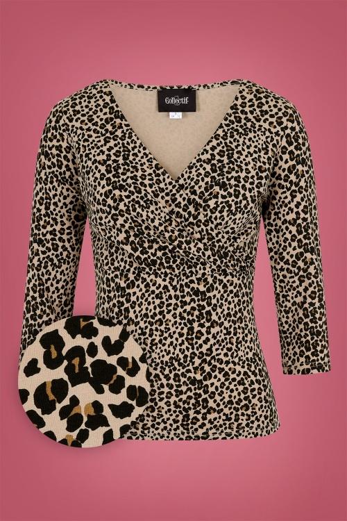 Collectif 29827 Poppy Leopard T shirt 20190430 021LW1