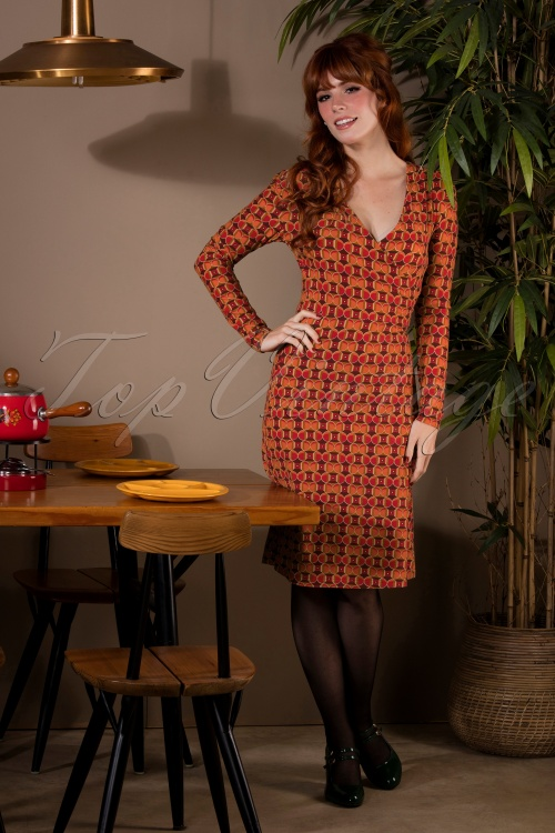 Bakery Ladies 29136 Dress V Neck Red 190918 040M W