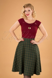 Banned Retro 30685 Polly Skirt in Green 20190819 040M W