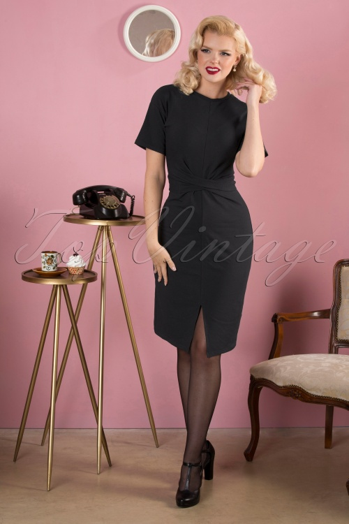 Banned 30633 Pencildress Black Tie Wrap 20190828 040MW