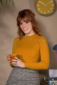 60s Jessica Turtleneck Jumper in Mustard