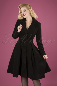 Hearts and Roses 50s Lauren Black Coat 152 10 28285 20181024 040MW