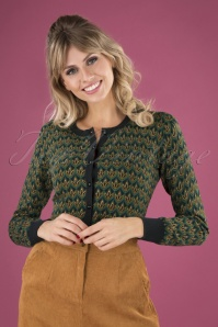 King Louie 29494 Cardi Roundneck Fluffy In Pine Green20190621 040MW