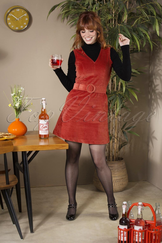 60s Skirts | 70s Hippie Skirts, Jumper Dresses 60s Viva La Groove Dress in Rust Red £94.73 AT vintagedancer.com