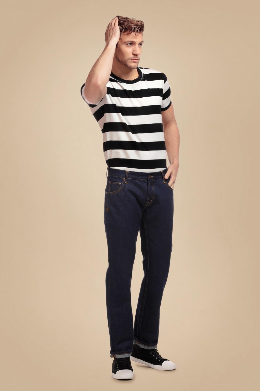 1950s Men's Pants, Trousers, Shorts | Rockabilly Jeans, Greaser Styles 50s Teddy Jeans in Dark Denim Blue £46.17 AT vintagedancer.com