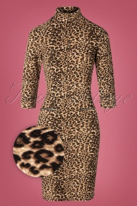 Smashed Lemon 30234 Pencildress Leopardprint Gold 09092019 002Z