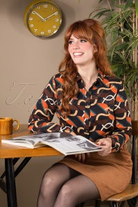 Smashed Lemon 30238 Blouse Black Orange 09092019 040MW