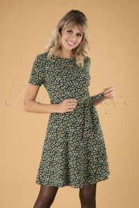 60s Kerri Animal Dress in Green