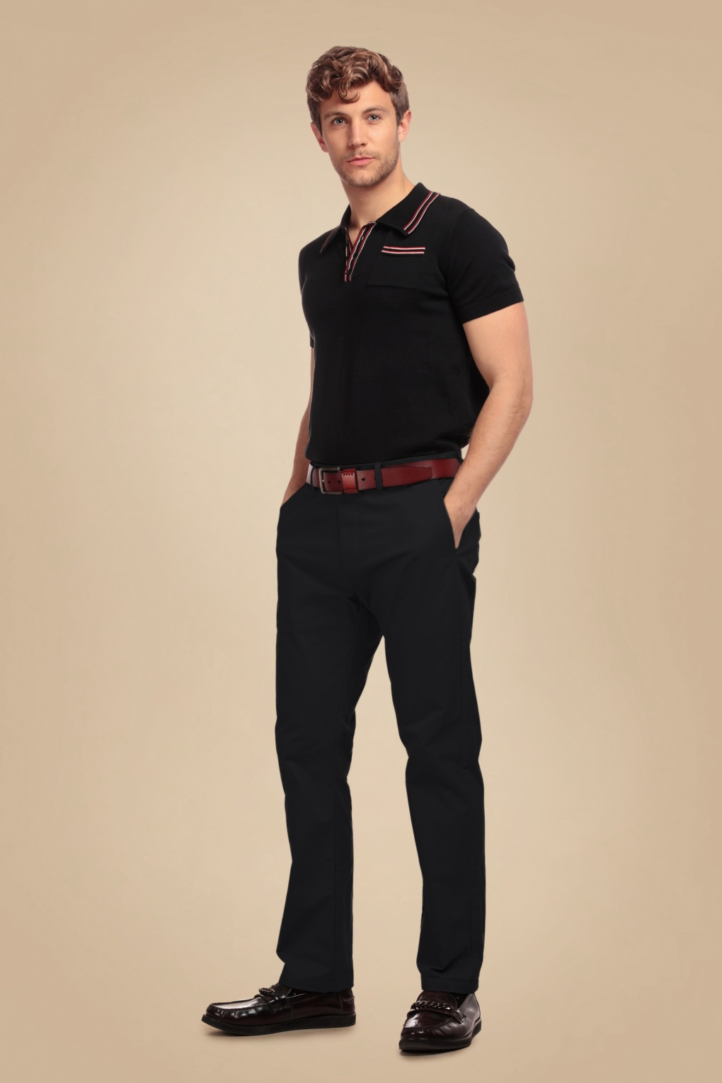 1950s Men's Pants, Trousers, Shorts | Rockabilly Jeans, Greaser Styles 50s Danny Trousers in Black £66.40 AT vintagedancer.com