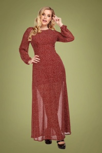 Collectif Clothing 70s Mariana Polkadot Maxi Dress in Red