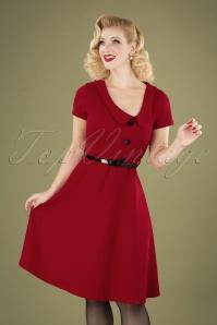 Vintage Chic 28721 Red Swing Dress 20190802 040MW