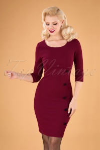 Vintage Chic 31186 Whine red Pencil Dress 20190830 040MW