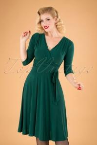 Cassandra Midi Dress Années 50 en Vert