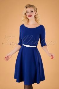 Arabella Swing Dress Années 50 en Bleu Roi