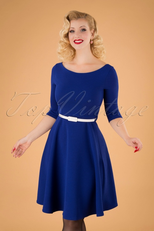 Vintage Chic 31431 Blue Swing DRess 20190906 040MW