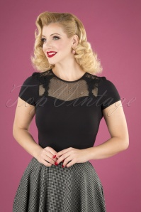 50s British Shirt in Black