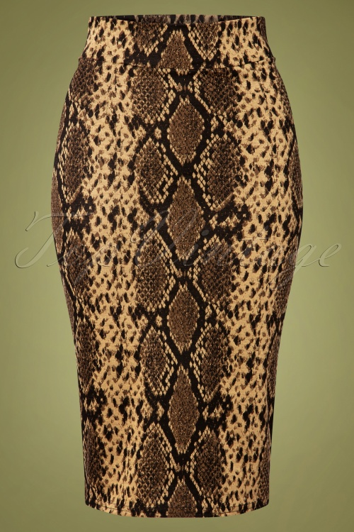 Vintage chic 31188 Jacquard Pencil Skirt 20191007 002W