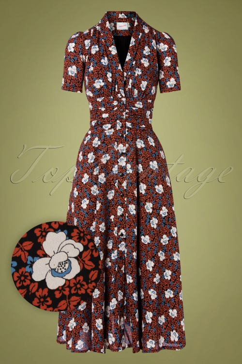 Retuned 29331 Clarice Dress Rust White Flow 20190614 004W1