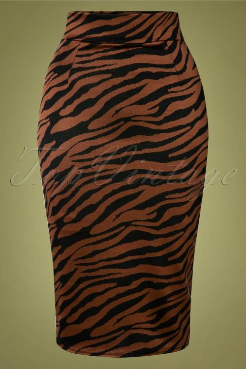 Vintage chic 31189 Jacquard Pencil Skirt 20191007 002W