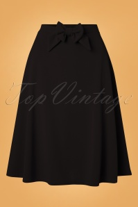 50s Lyddie Bow Swing Skirt in Black