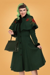 Collectif 29861 Claudia coat & cape in green 20190430 21LW
