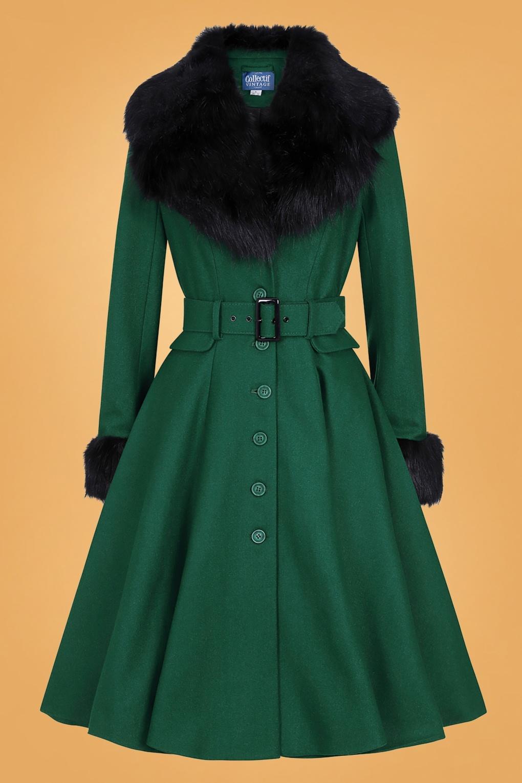 Vintage Coats & Jackets   Retro Coats and Jackets 50s Cora Swing Coat in Green £183.95 AT vintagedancer.com